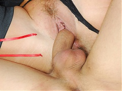 Mature cam model Joanna Depp invites a younger guy into the dressing room for a live sex show